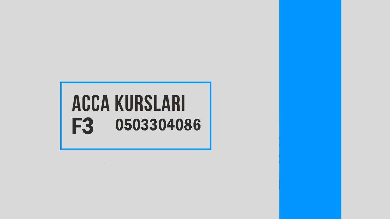 seller.az ACCA  F3 kursları