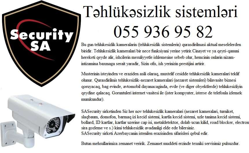 seller.az ❈Təhlükəsizlik kameralarının satışı ❈