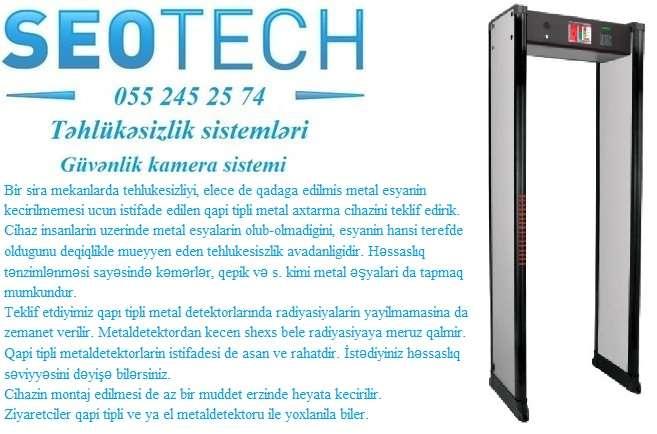 seller.az ✓ Qapi tipli metal detector